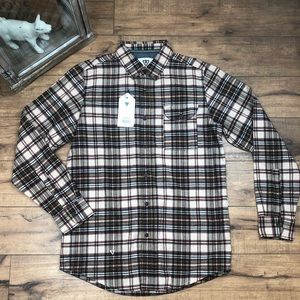 NWT VISSLA flannel mens l/s shirt size small